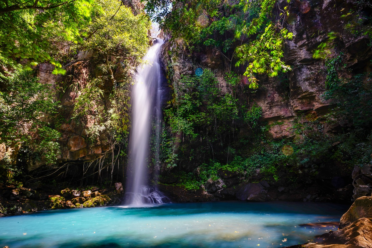 chasing the water falls in costa rica